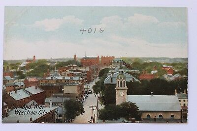 Old UDB postcard WEST FROM CITY HALL, PORTLAND, MAINE, pre 1907