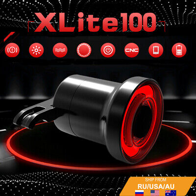 Bike Brake Light Intelligent Sensory Bicycle Tail Rear Light USB Charging Lamp