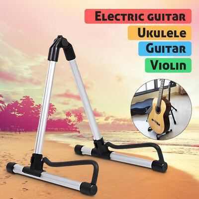 Portable A-Frame Acoustic Electric Bass Guitar Display Floor Stand Holder