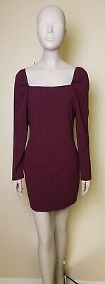 43e954af993 Charlotte Russe large square neck bodycon dress purple fits like a medium  NWT