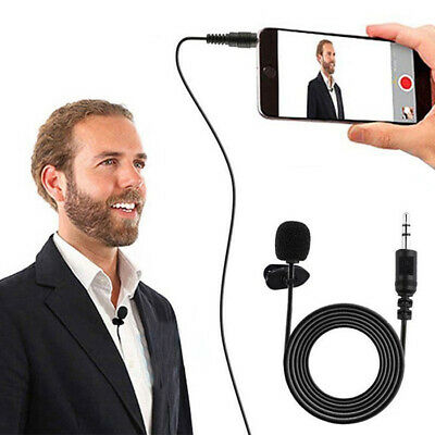 Microphone Mini Clip On 3.5mm Lapel Headset Loudspeaker Mic Wired Hands Free