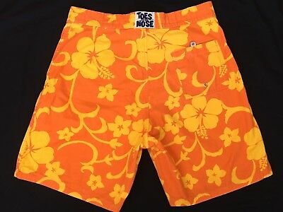 487ea6fabc TOES ON THE NOSE Board Shorts 36 Surf Trunks Hawaiian Hawaii Aloha Floral  Swim