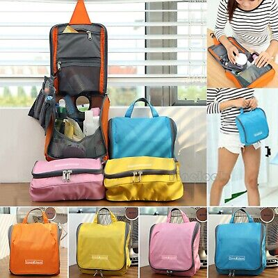 Travel Storage Makeup Toiletry Organizer Cosmetic Pruse Wash Hanging Bag we
