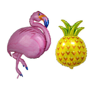 Tropical Lovely Flamingo Pineapple Aluminum Foil Balloon Sets Party Decor