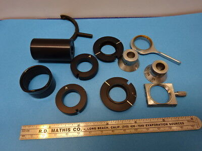 LOT OF ACCESSORIES for MICROSCOPE PARTS AS IS &90-A-22