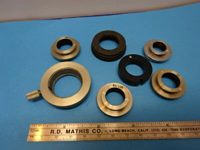 LOT OF ACCESSORIES for MICROSCOPE PARTS AS IS &90-A-19