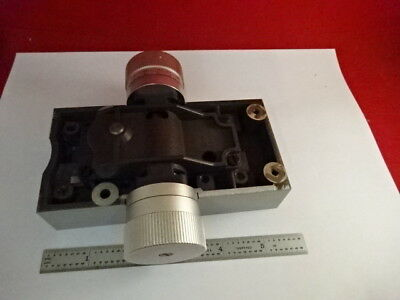 Sm-Lux  Micrometer Stage Knobs Leitz Germany Microscope Part As Is &2-A-15