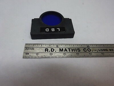 Olympus Japan Lbd Blue Filter Optics Microscope Part As Is &83-27B
