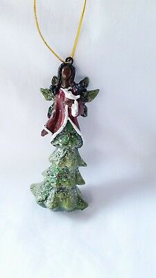NEW w/ Tag African American - Black Angel Christmas Tree Ornament - Great gift!