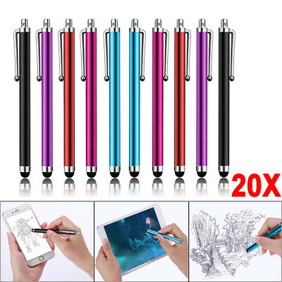 20pcs Stylus Touchscreen Pen Rubber Tipped for All Moble Phones Tablet Ipad UK