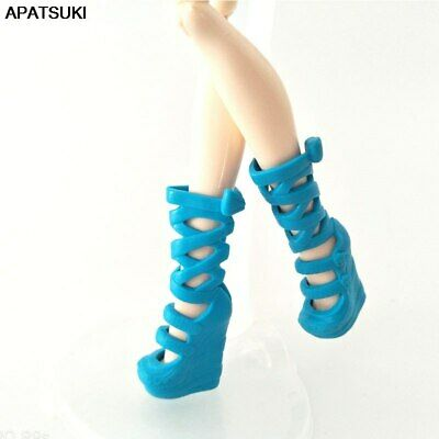 Blue Original Fashion Shoes for Monster High Doll High-heel Shoes Long Boots Toy