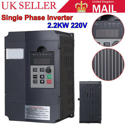 220V 2.2KW Motor Speed Control Variable Frequency Drive Inverter Single Phase OL