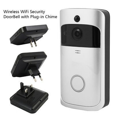 Smart Video Wireless WiFi DoorBell Phone Door Visual Ring Intercom Secure Camera