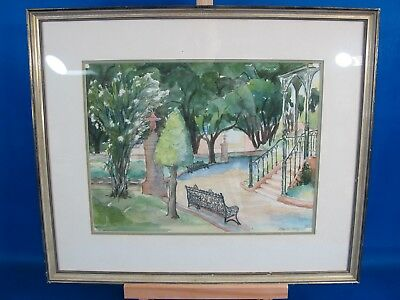 Vintage Blanche Avery Original Watercolor Signed By Artist Framed