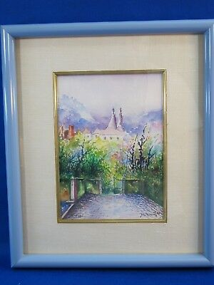 1983 Signed and Framed by Artist Watercolor Painting