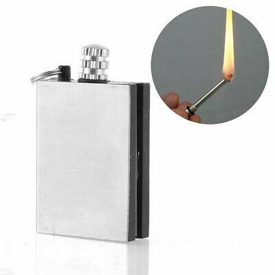 Match Box Lighter Striker Permanent Metal Novelty Keyring Military Flame survive