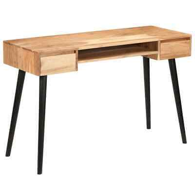 Rustic Industrial Computer Desk Vintage Retro Writing Table Wooden Furniture NEW