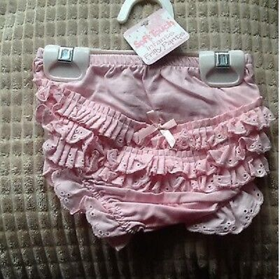 Baby girls pink frilly pants  6 - 12 Months