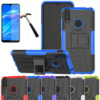 Heavy Duty Armor Case KickStand Shockproof Hard Cover For Huawei Y7 Y6 2018 2019
