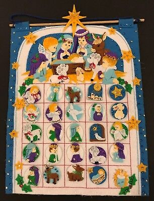 Dimensions Felt Works Nativity Christmas Countdown Calendar Felt Sequin Fonis