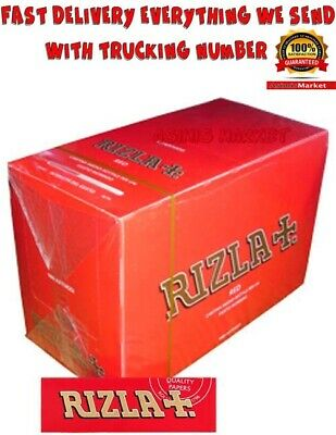 Rizla Red Smoking Rolling Papers Full Box Of 100 Booklets Standard-Regular Size