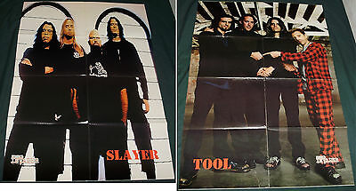 Slayer / Tool RARE big double side Poster Metal for collectors