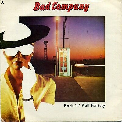 "BAD COMPANY-Rock 'N' Roll Fantasy/Crazy Circles UK 7"" EX Cond"