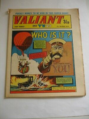 VALIANT And TV 21 comic 21st October 1972