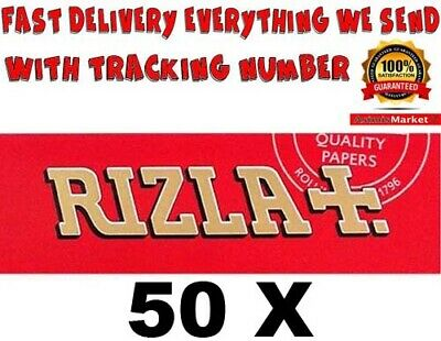 Rizla Red Smoking Rolling Papers 50 Booklets Standard-Regular Size 2500 Sheets