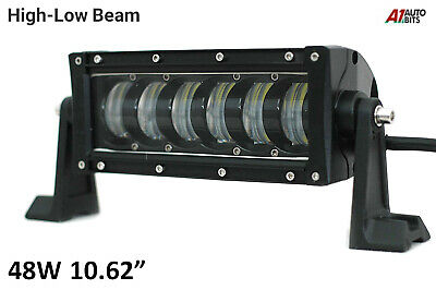 48w Led High Low Beam Light Bar Flood Spot Combo Driving Lamp Offroad Car Suv
