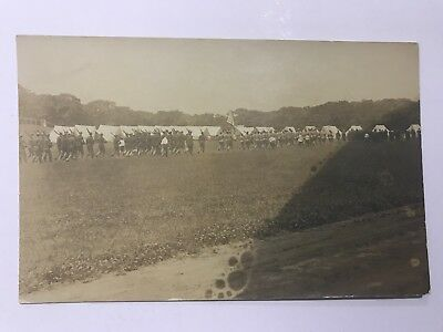 Military Scene Falmouth Heights Massachusetts MA Camp Edwards? Soldiers Marching