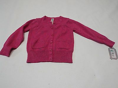Pink blue glitter size 18 mon by Cherokee sweater girls top NWT free ship