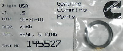 Qty 3 Cummins Thermostat O-Rings 145527  5331-01-171-7986