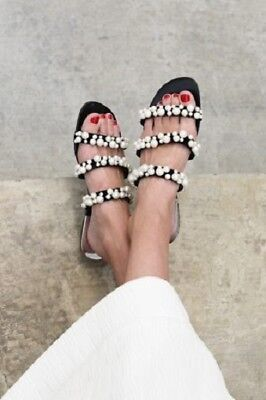 9327dca5dff ZARA SS17 PEARLY STRAPPY SANDALS Size EU 37 US 6.5 UK 4 Ref. 2600