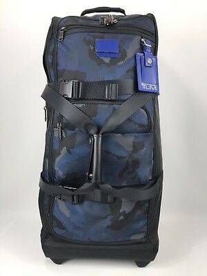 Tumi Fremont Brantley Large Two Wheeled Soft Duffel Bag Luggage Blue Camo