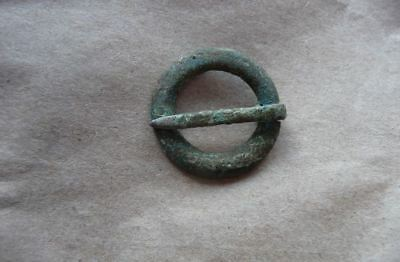 ANCIENT VIKING BRONZE  FIBULA FROM BALTIC SEA COAST..23mm  #B