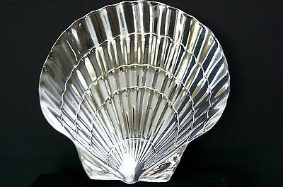 """6"""" Tiffany & Co .925 Sterling Silver Footed Seashell/Scallop Shell Bowl/Dish"""