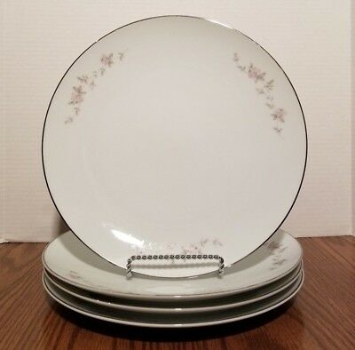 "Noritake China Bellemead  10-1/2"" Dinner Plates Lot of 4"