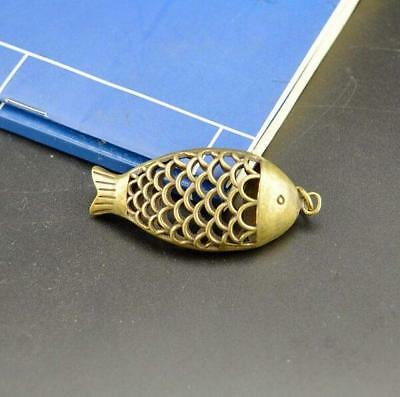 Chinese Pure brass fish small pendant