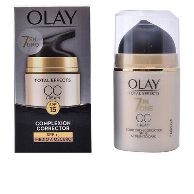 Cosmética Olay mujer TOTAL EFFECTS CC cream SPF15 #medio a oscuro 50 ml