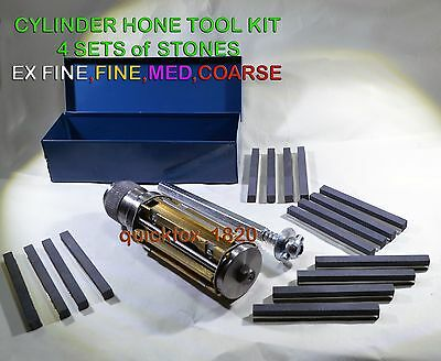 ATV,QUAD,MOTORCYCLES SMALL BLOCK CYLINDER HONE KIT 34 MM to 60 MM 4 SETS STONE