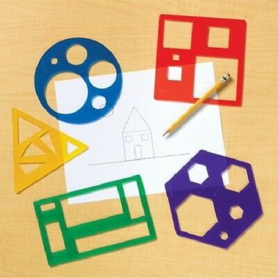 5 x PRIMARY RELATIONAL SHAPES maths TEMPLATES set pre school childrens aid