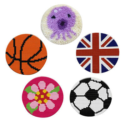 Latch Hook Rug Kits Crocheting Cushion Carpet Embroidery Kits for Beginners