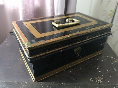 🗝🇬🇧 Antique Vintage Victorian Rare Milners Safe Cash Box Till 7 Lever 🇬🇧🗝