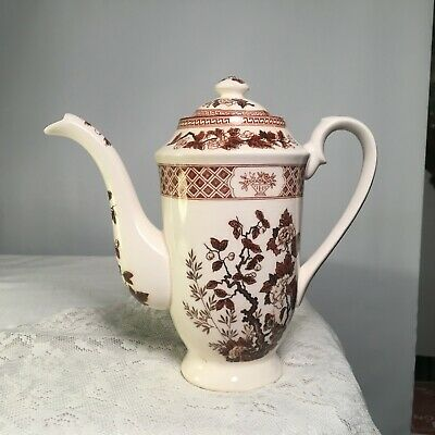 Vintage Nas Co Indian Tree Ceramic Coffee Pot