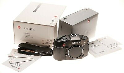 Leica R8 film 35mm SLR camera body GERMANY Leitz Balck Cap Box Papers strap kit