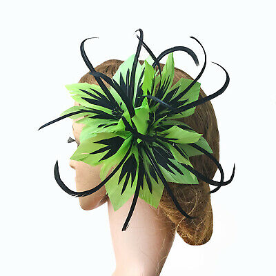 Goose Coque Feather Beaded Flower Mount Millinery Hat Fascinator Gown Headdress
