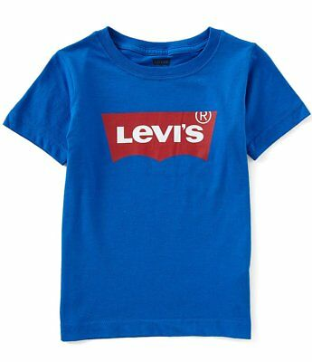 16b9c6c1 Levi's Little Boys Short-Sleeve Graphic Blue Tee - Size 2T - NWT - MSRP