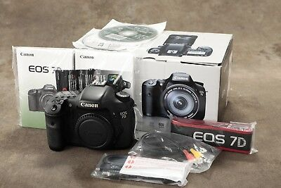 Canon EOS 7D 18.0MP Digital SLR Camera - Black (Body Only)  200k actuations