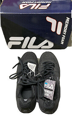 5d40ef29511d Fila Mens Memory Refractive Memory Foam Insole Running Athletic Blk Size 8